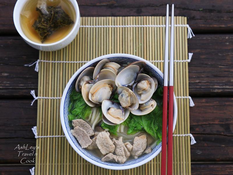 露營趣_蒜香蛤蜊豬肉麵