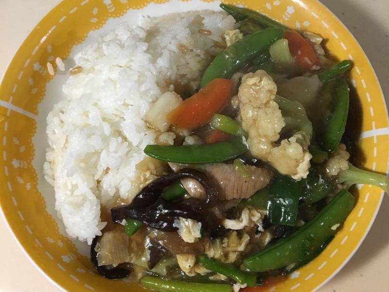 蔬菜松阪豬燴飯