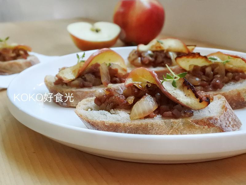 焦糖蘋果培根醬佐法棍_派對開胃菜