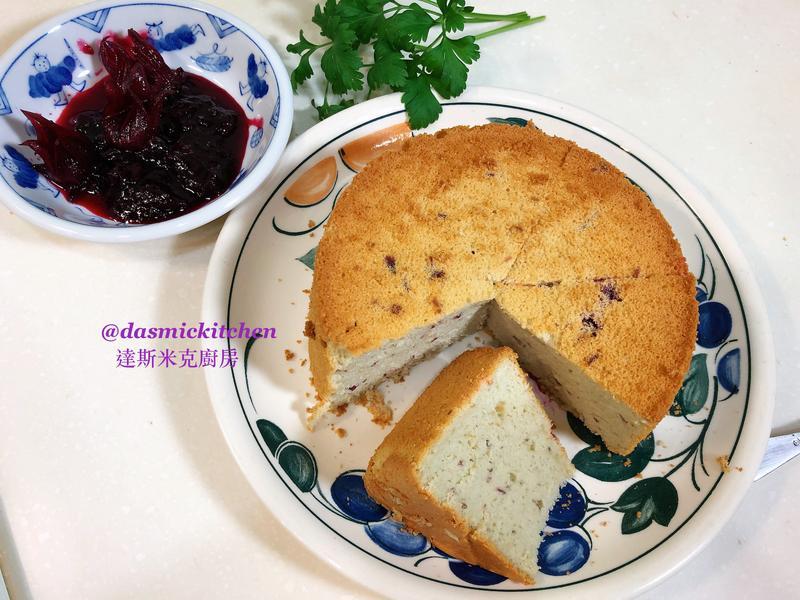 洛神花果醬戚風蛋糕(6吋分離模)