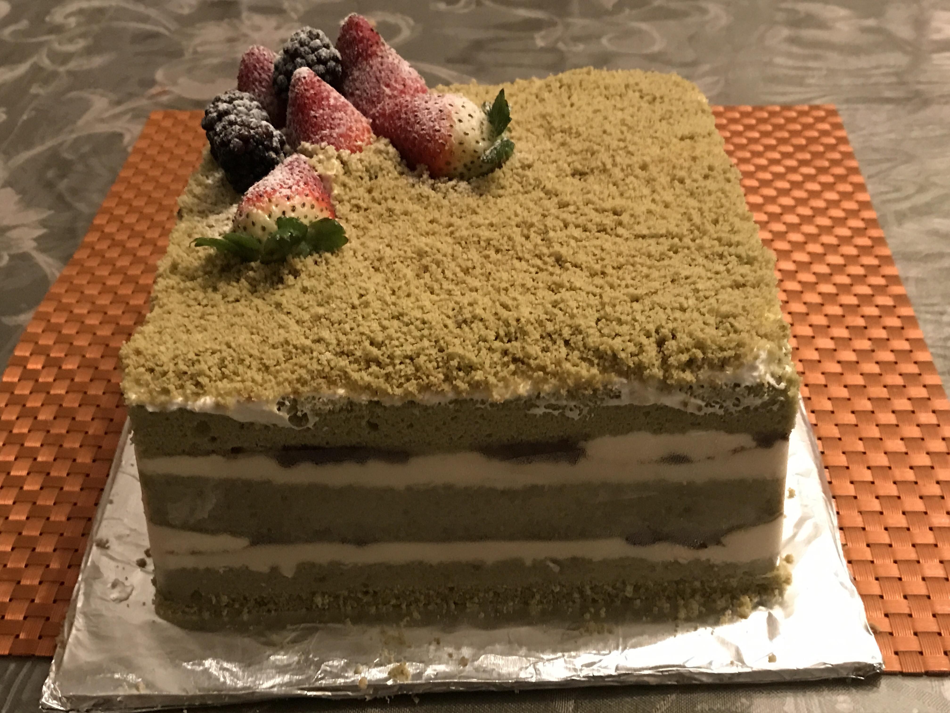抹茶紅豆起司蛋糕