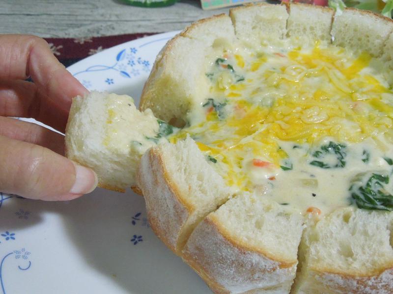 手撕麵包濃湯盅~派對料理