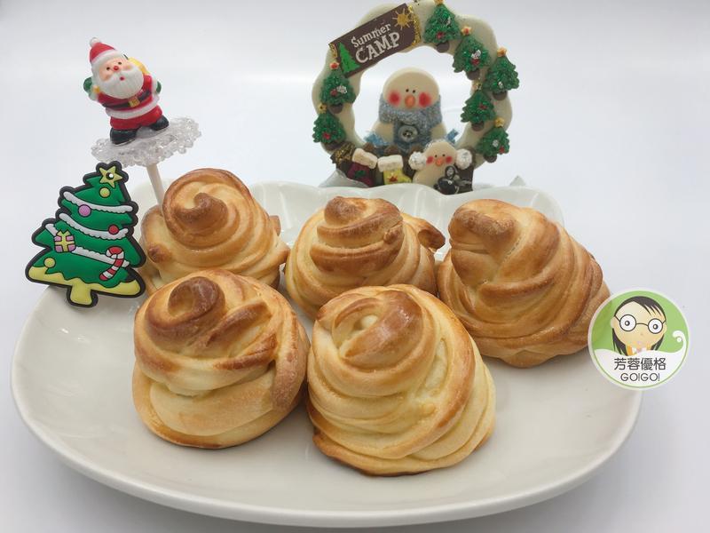 香烤養樂多優格饅頭~聖誕節派對點心