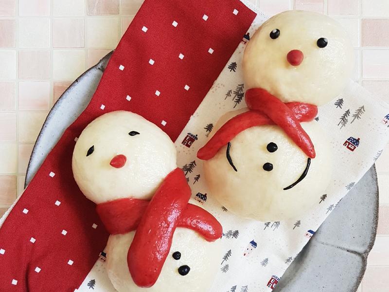 聖誕節【雪人饅頭】