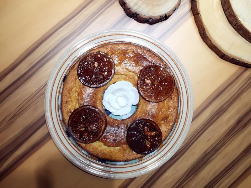 高纖豆泥橙片磅蛋糕