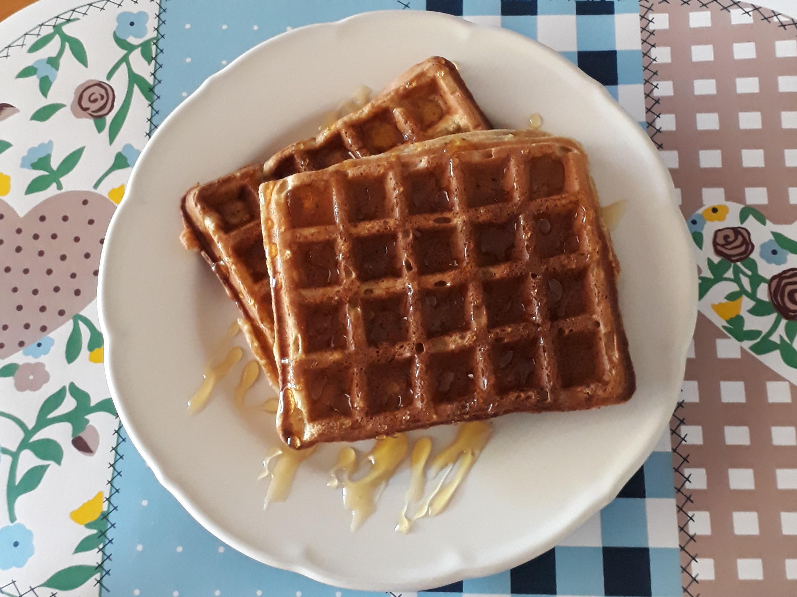 香蕉鬆餅 Belgian waffle