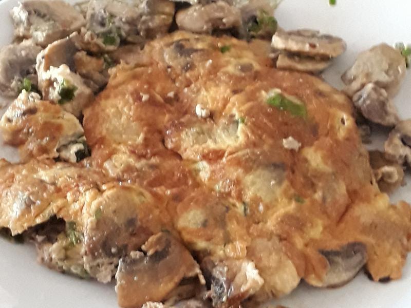 蔥花蘑菇煎蛋