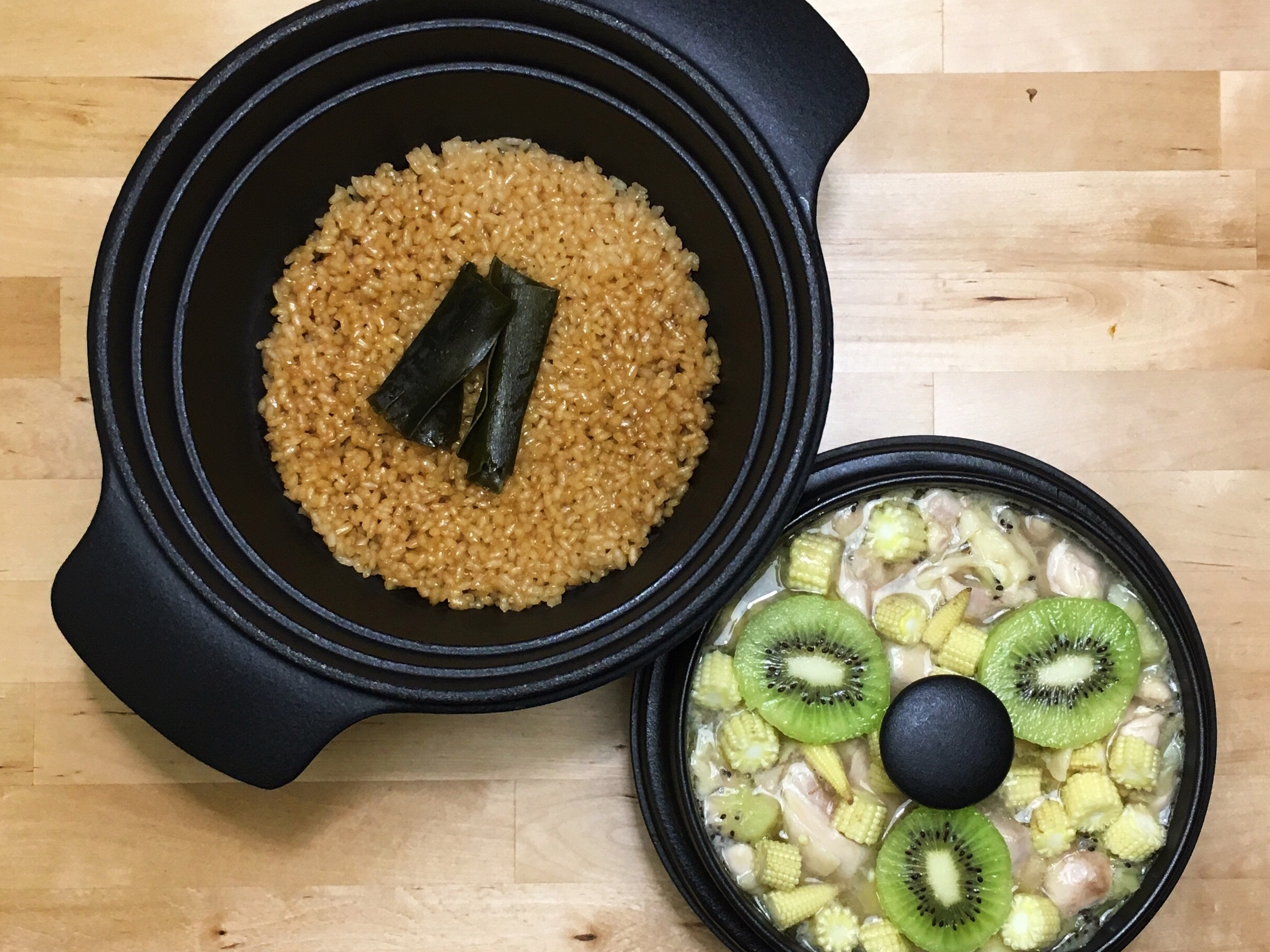 奇異果蒸雞肉+日式炊飯