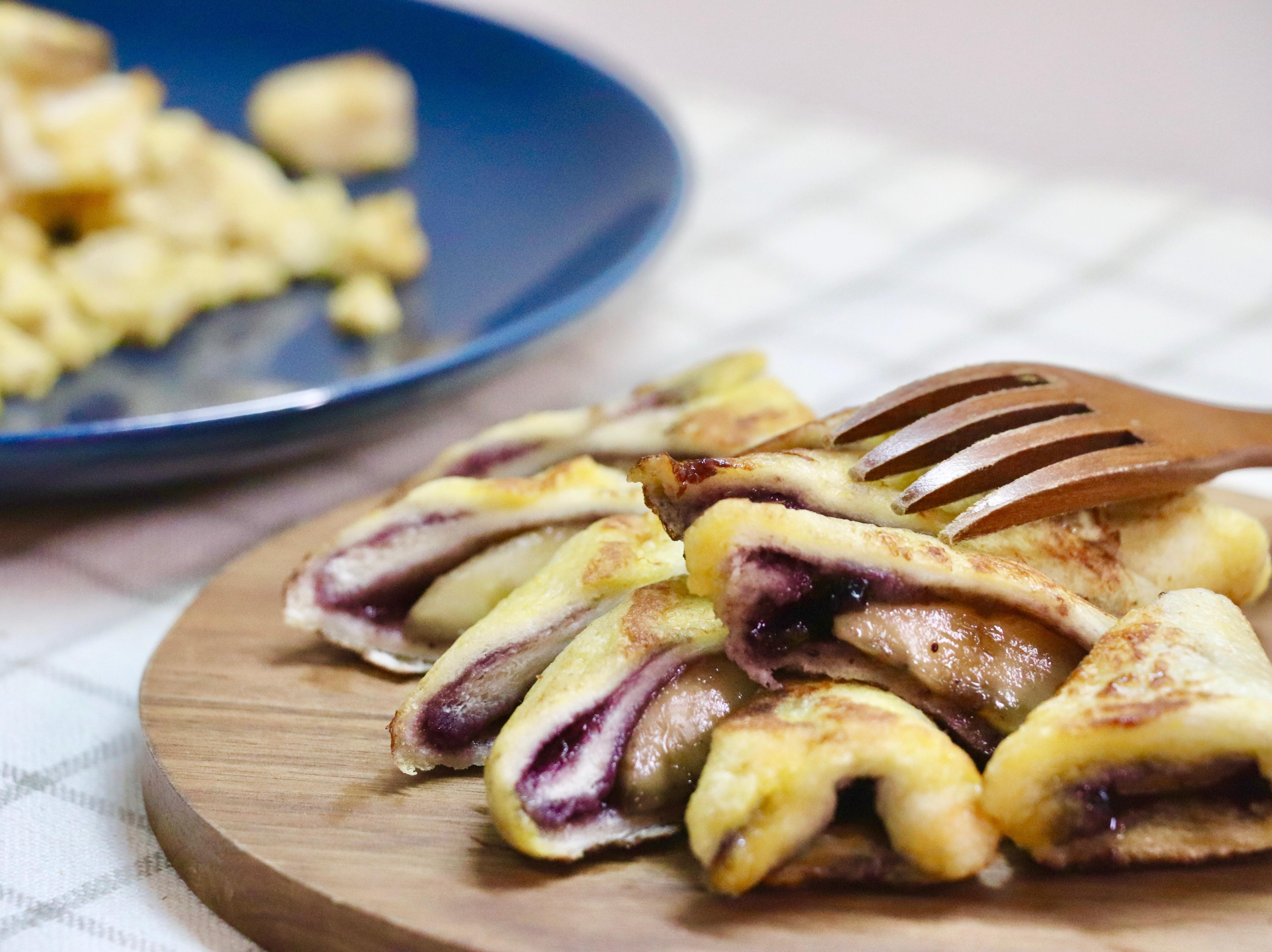 減脂期的藍莓香蕉卷