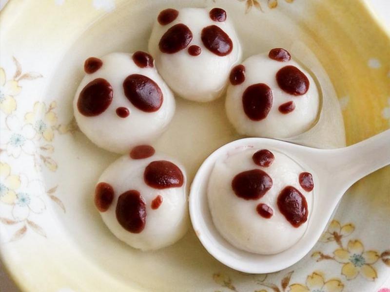 熊貓湯圓♥市售湯圓做變化