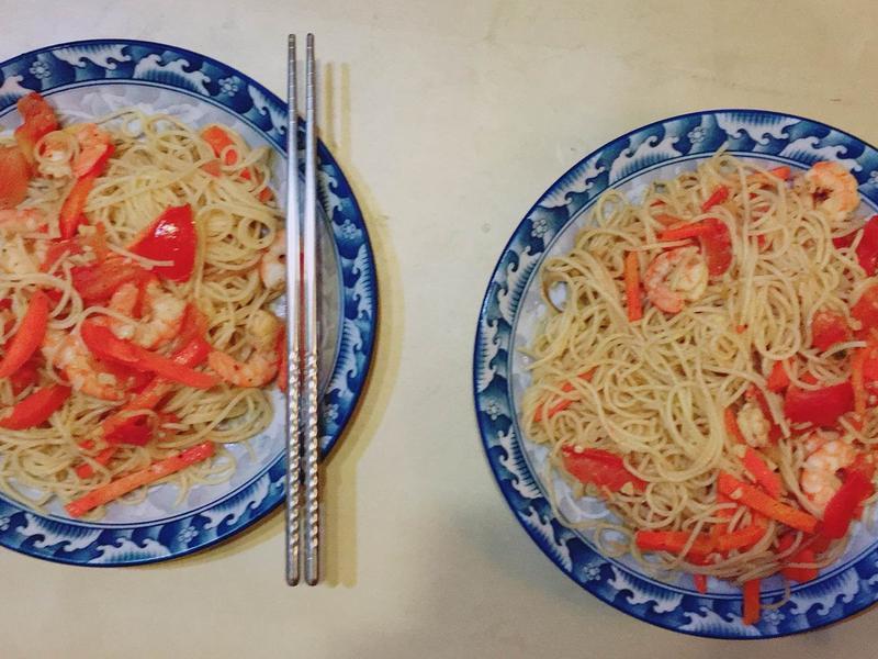 鮮蝦蕃茄義大利麵
