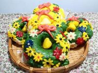 創意聖誕花圈饅頭