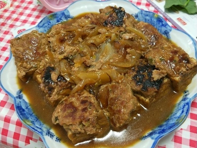 油豆腐鑲肉