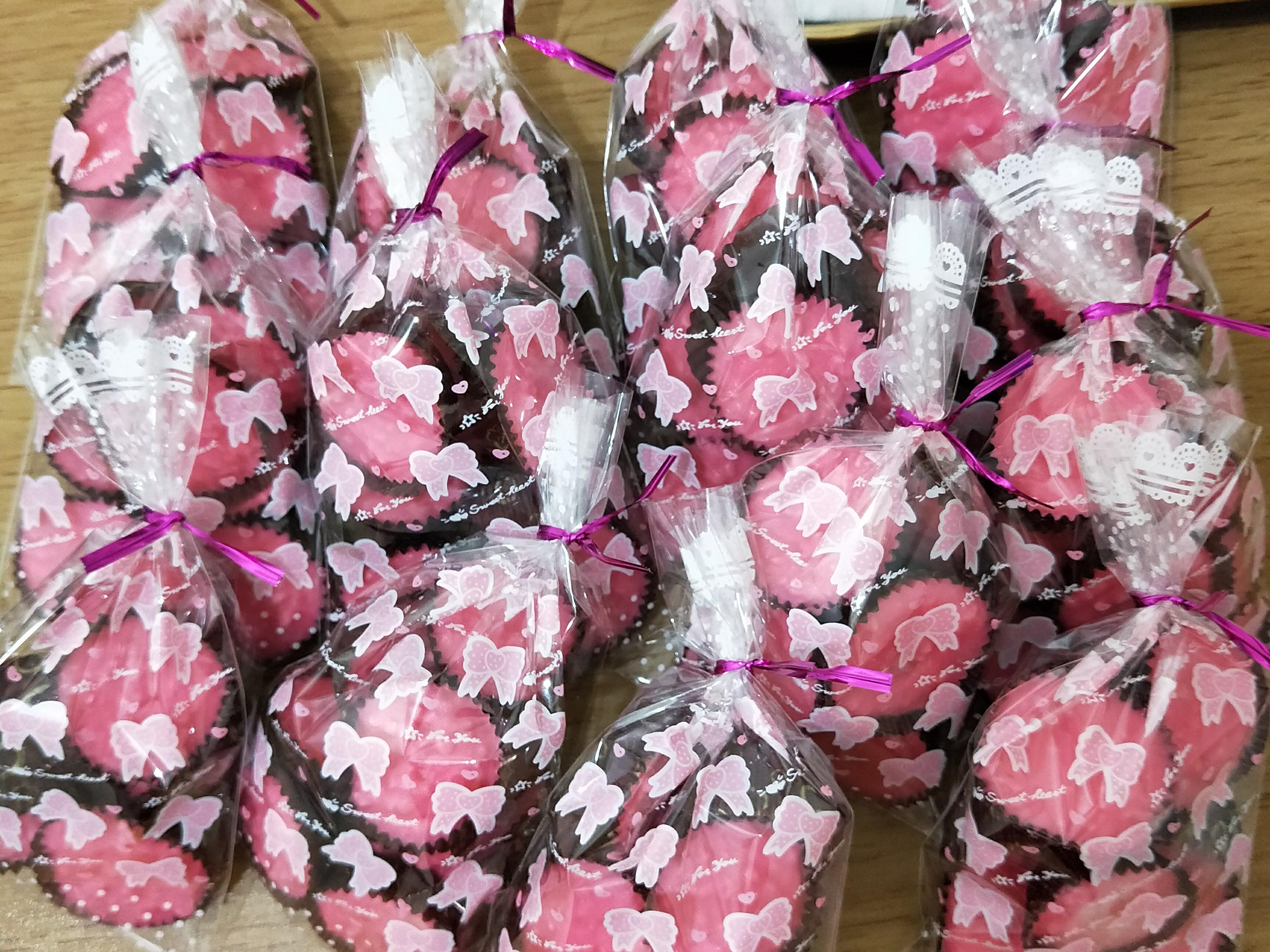 草莓杏仁角巧克力