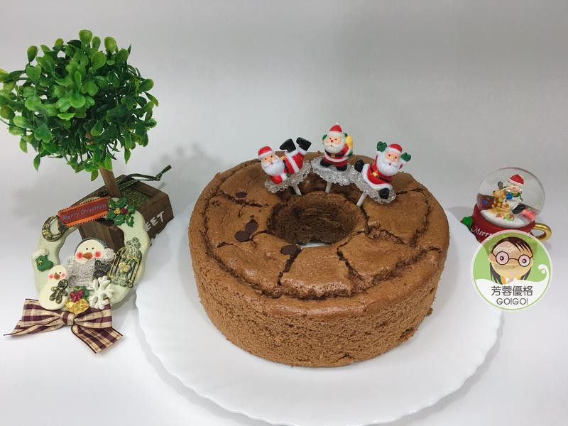 優格巧克力戚風蛋糕~聖誕節派對點心