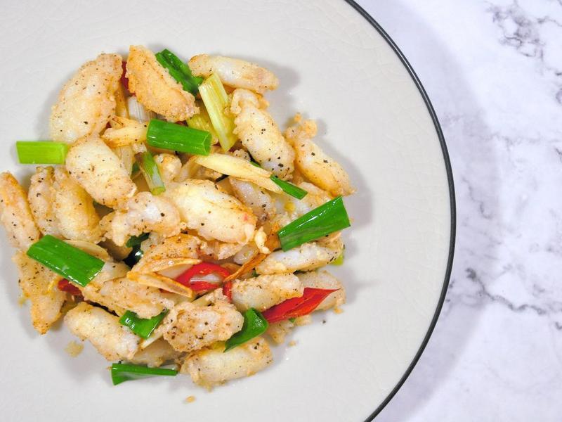 台式椒鹽蟹管肉