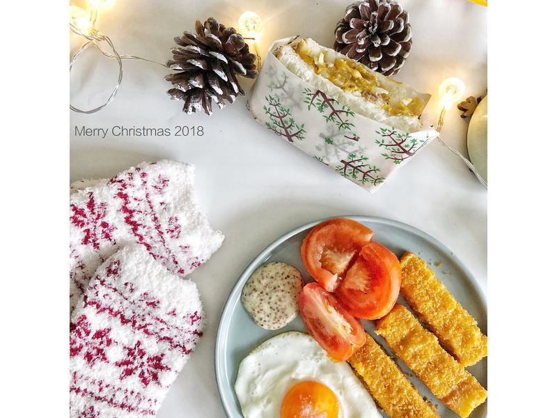 聖誕節阿拉斯加鱈魚條早餐懶人包