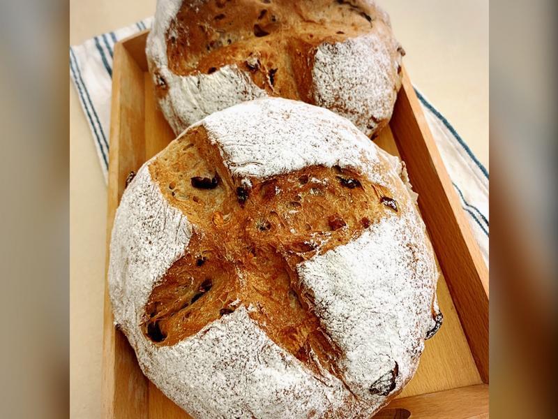 全麥桂圓核桃麵包(水合法)