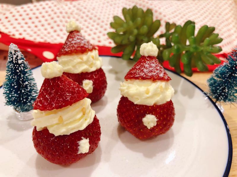 草莓聖誕老公公🎅聖誕派對小裝飾