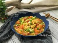 南瓜濃湯蝦麵