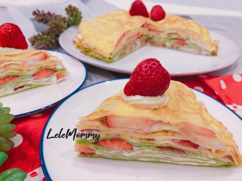 雙色草莓千層蛋糕🍰季節限定