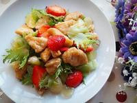 檸蜜醬炸雞蔬果沙拉
