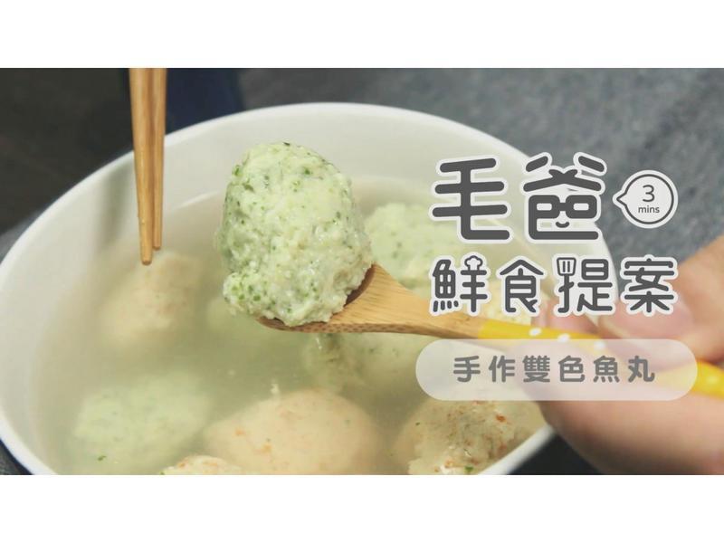 【毛爸鮮食】手作雙色魚丸湯(寵物料理)