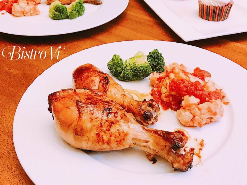 簡單美味超下飯-蜂蜜醬烤雞腿