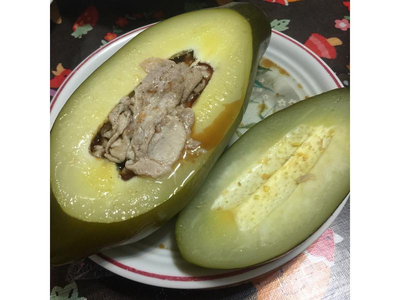 麻油豬肉青木瓜盅
