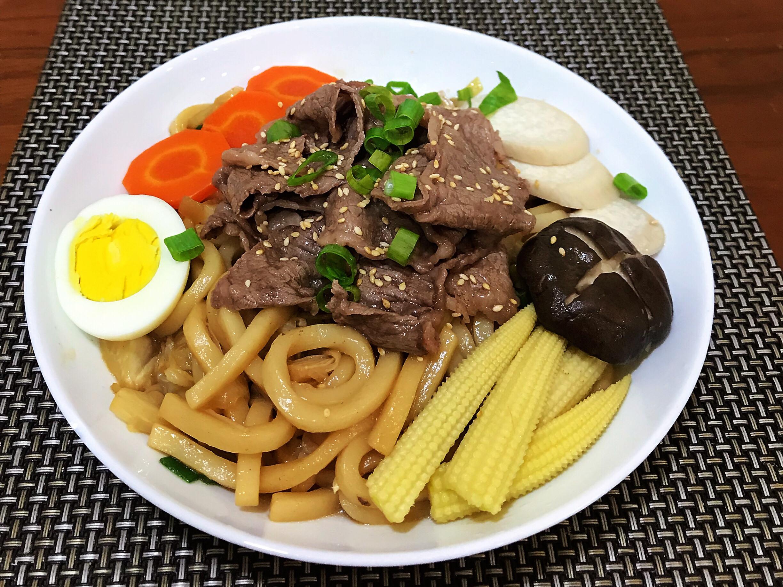 壽喜燒牛肉拌麵