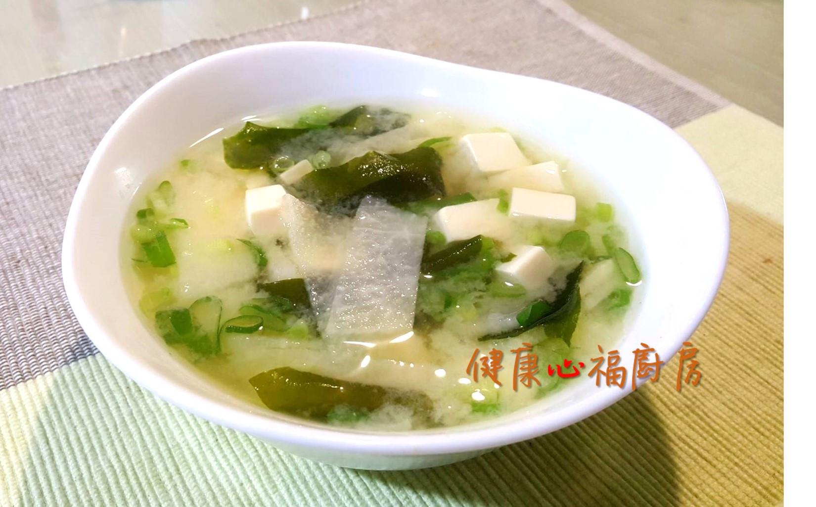 【阿公好料】味噌海帶豆腐湯(素食可)