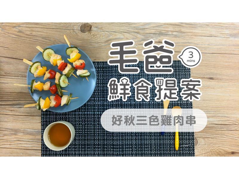 【毛爸鮮食】好秋三色雞肉串 (寵物料理)