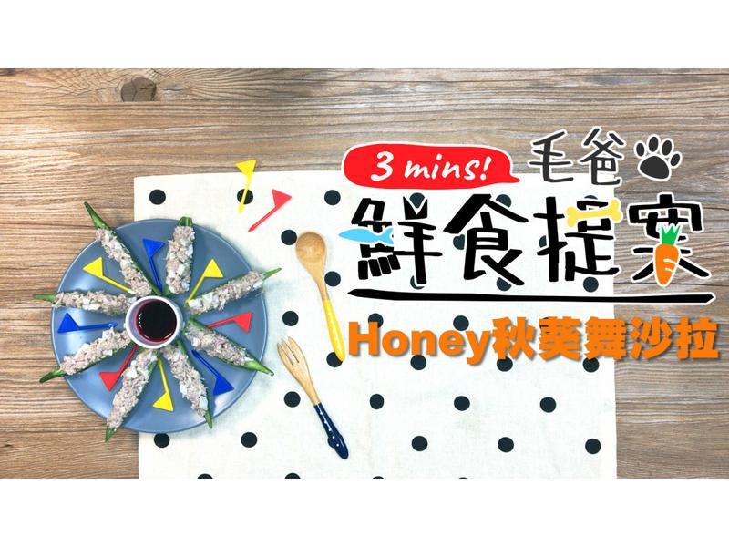 【毛爸鮮食】蜂蜜秋葵舞沙拉 (寵物料理)