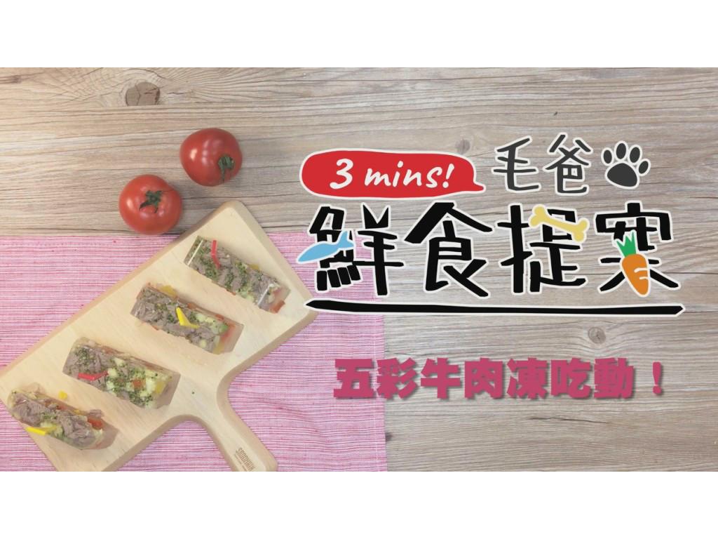 【毛爸鮮食】五彩牛肉凍吃動 (寵物料理)