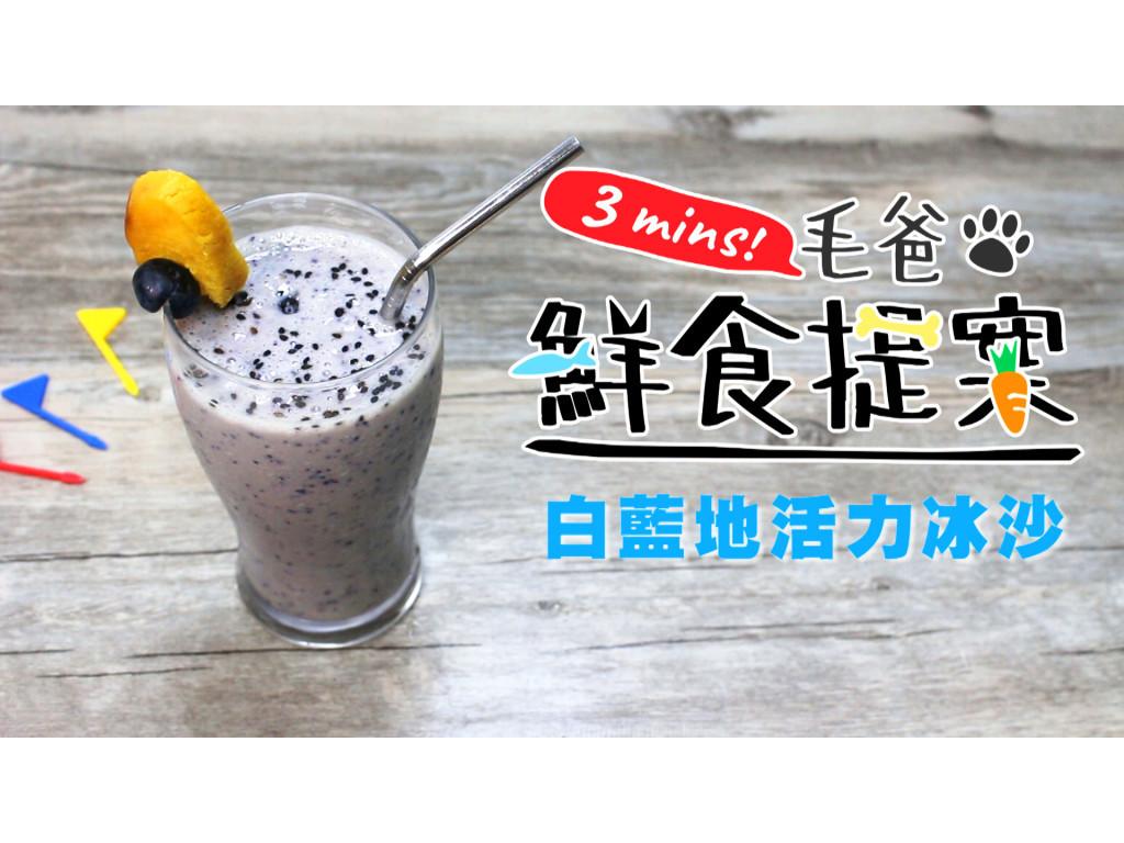 【毛爸鮮食】白藍地活力冰沙 (寵物料理)