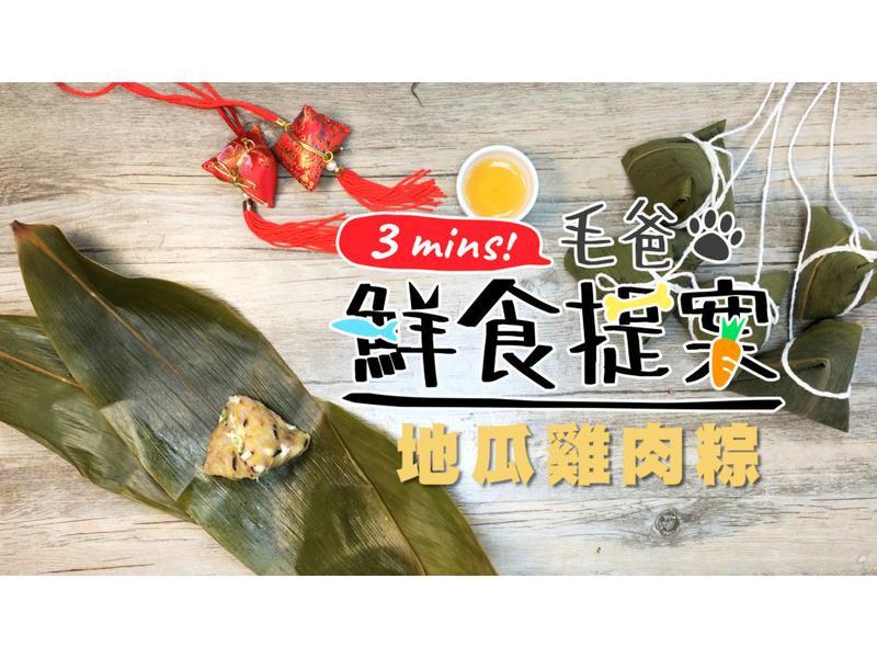【毛爸鮮食】地瓜雞肉粽 (寵物料理)