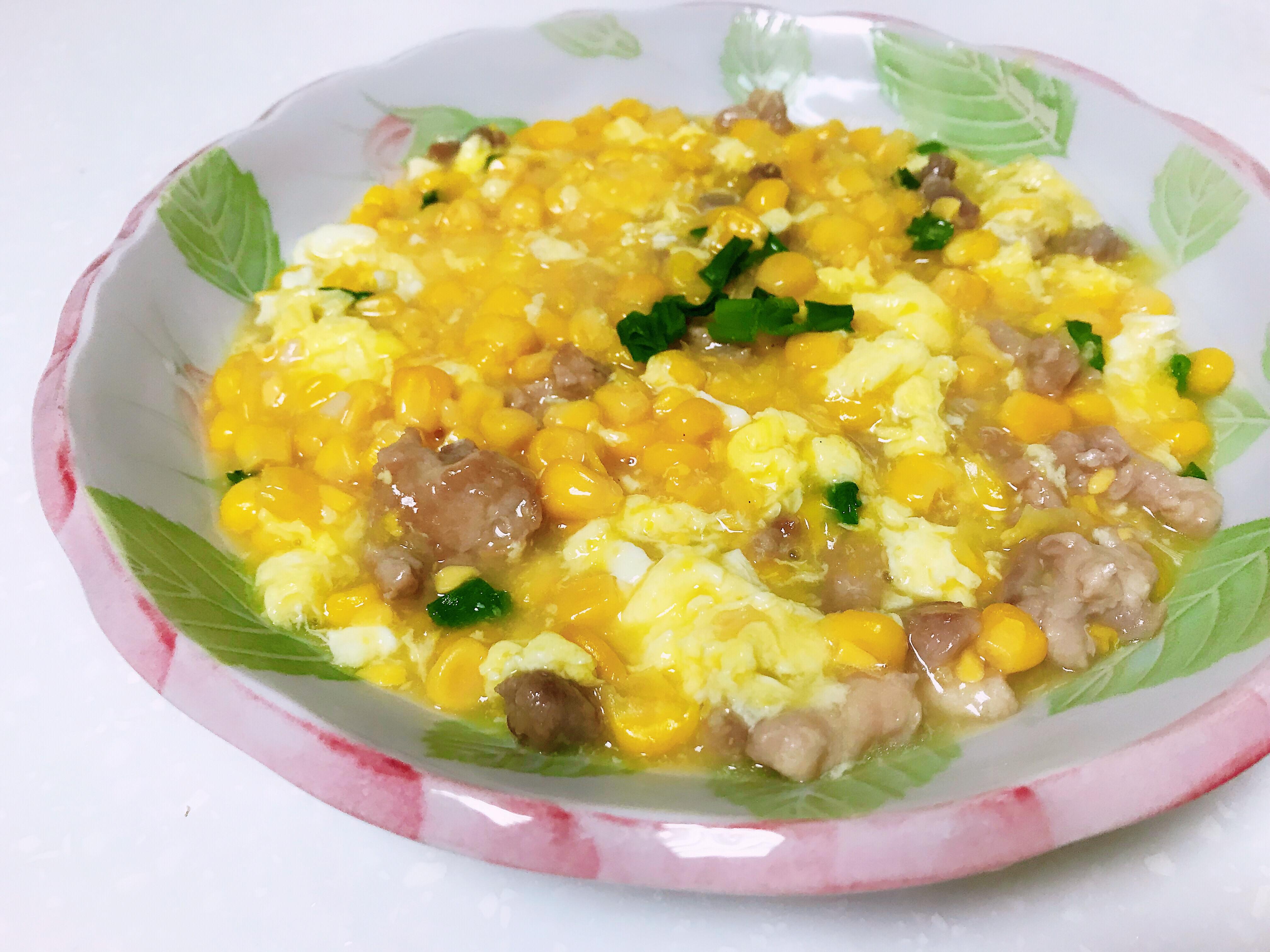 滑蛋玉米燴瘦肉(粟米瘦肉飯)