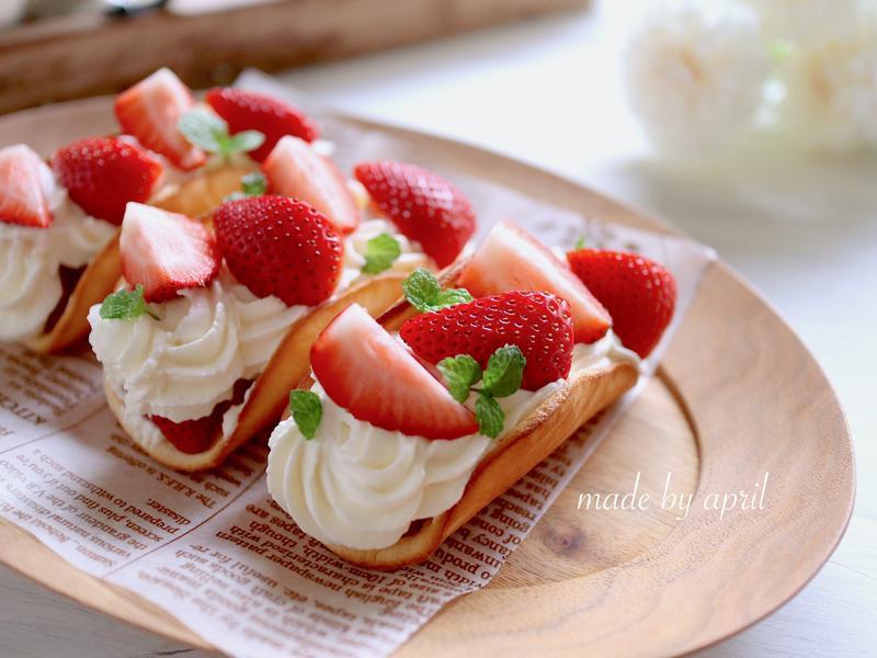 草莓蛋糕捲 10分鐘快速完成