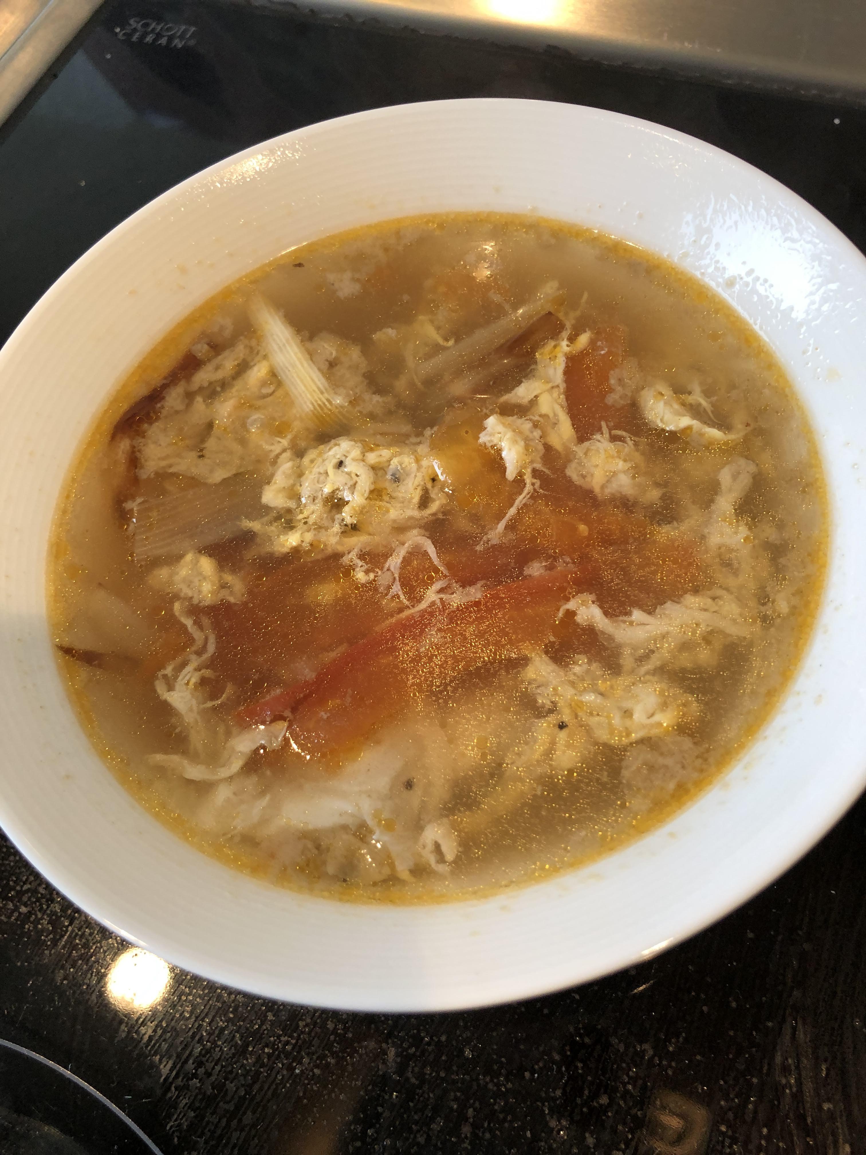 蕃茄蛋花湯(黑胡椒版)