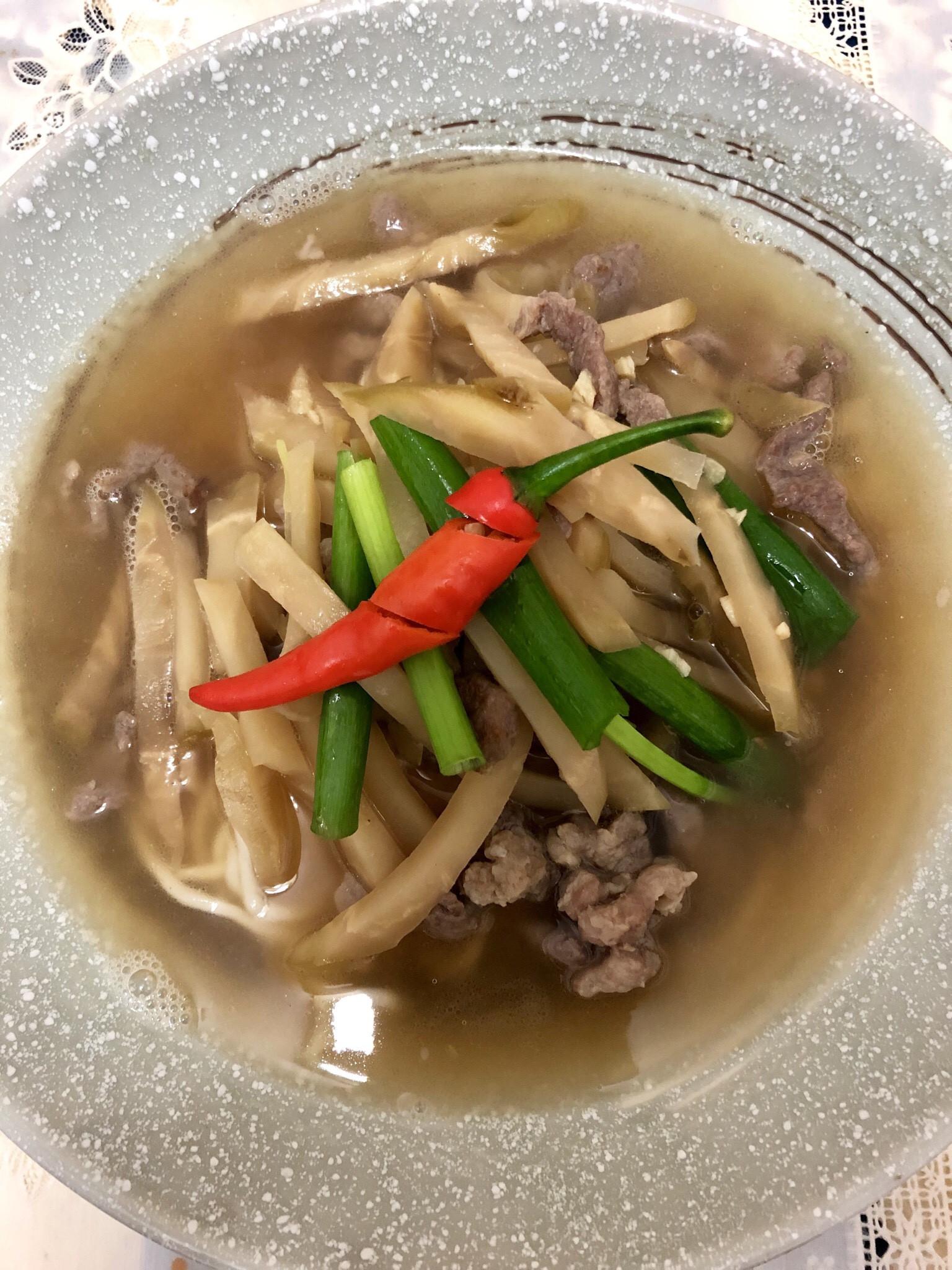 榨菜肉絲麵(無鹽無味精)