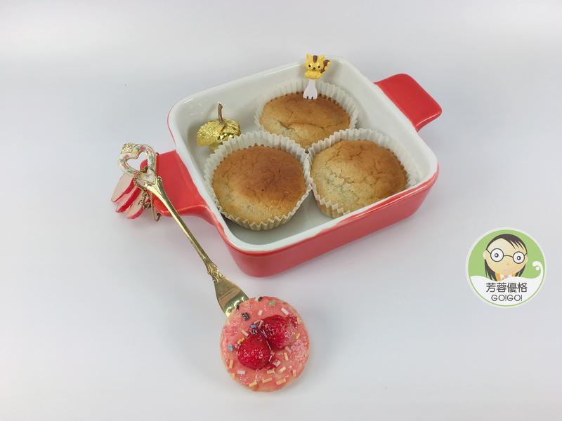 杏仁優格藍莓小蛋糕
