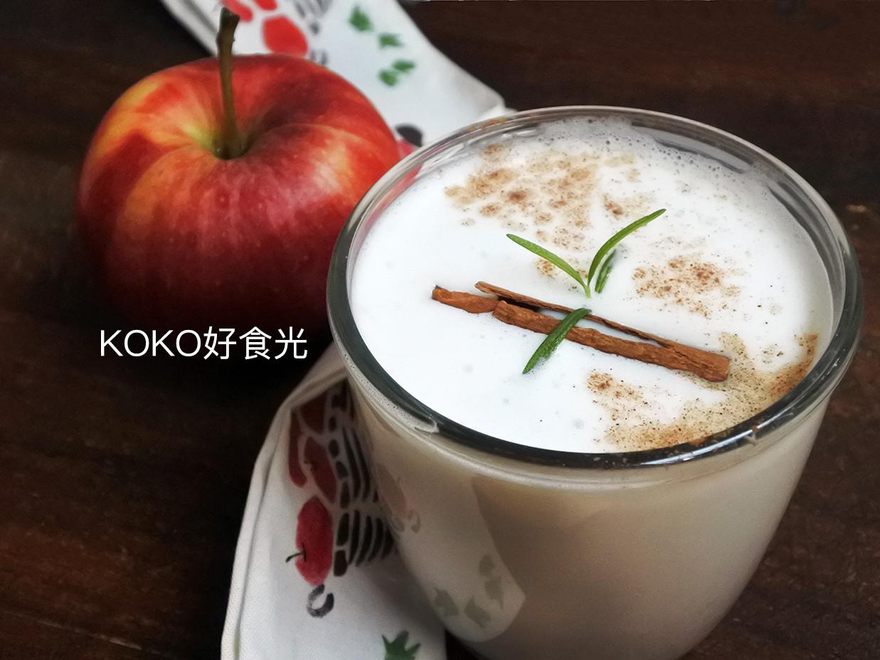 大人的熱蘋果牛奶