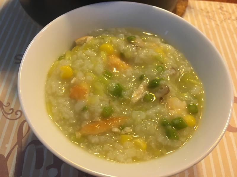 蘆筍鮭魚粥