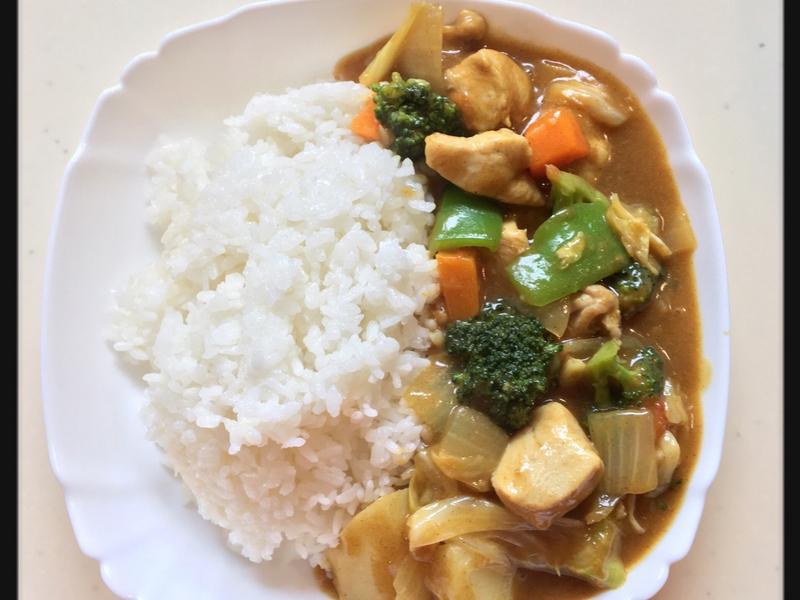 蔬菜咖哩雞