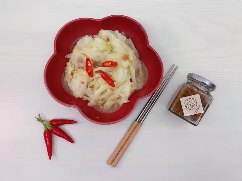 蝦醬高麗菜(瓦城風味,五分鐘快速上菜)