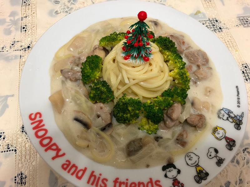 蘑菇奶油雞肉意大利麵(濃湯罐頭版)