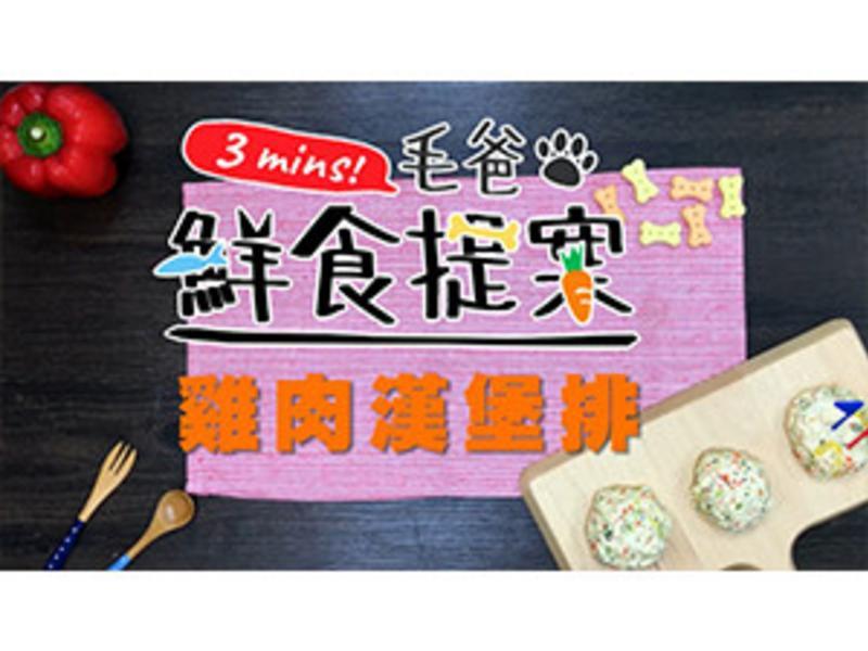 【毛爸鮮食】雞肉漢堡排(寵物料理)