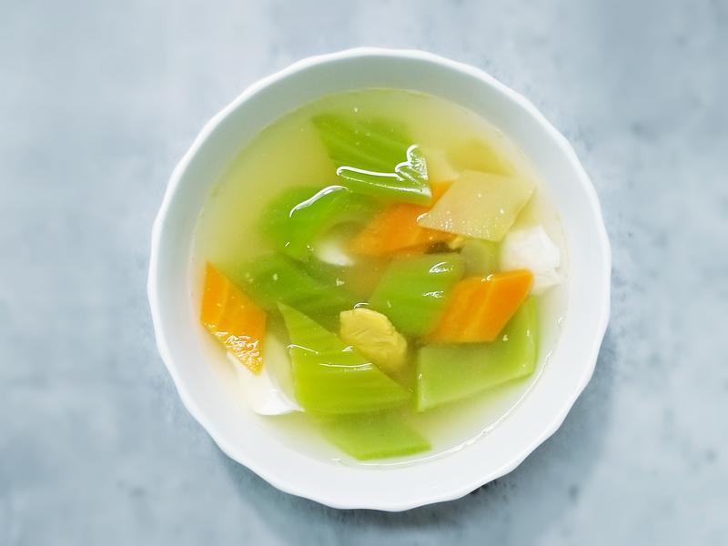 年菜【五色鹹蛋芥菜湯】年年有餘長年菜湯