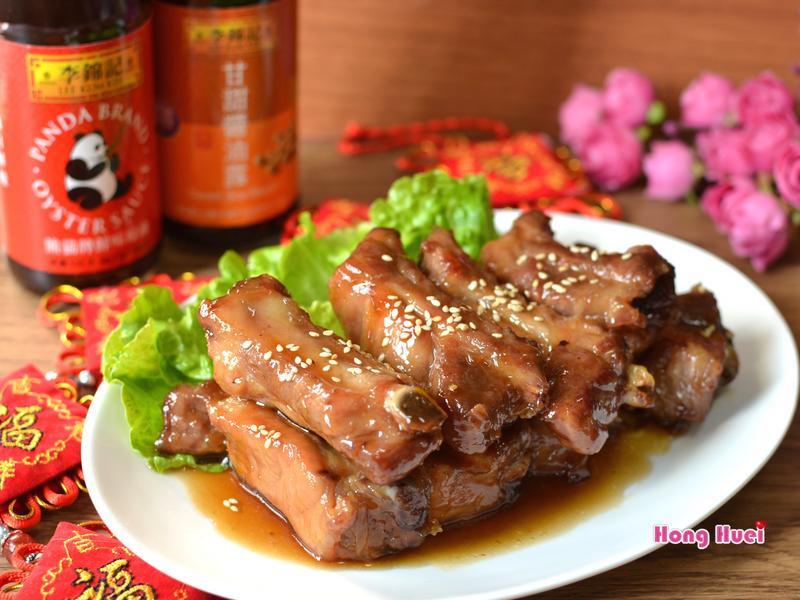 蔥燒蜜汁豬肋排(一鍋到底)