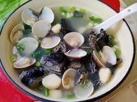 蔥蒜蛤蠣烏骨雞湯
